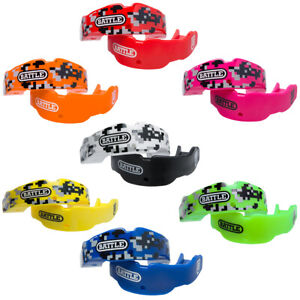 Battle Sports Science Adult Camo Mouthguard 2-Pack with Straps