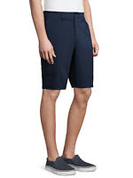 """NEW MENS GEORGE TECH CARGO FLAT FRONT 10"""" AT THE KNEE CASUAL SHORTS BLUE COVE"""