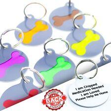 Pet Tags Cute Fun Custom Pet ID Tags Dog Name Disc For Collar Personalised FREE
