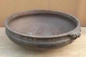 Old Vintage Handmade Brass Urli Antique Uruli Vessel Vastu Bowl Home Decor BN-83