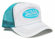 VON van DUTCH MESH TRUCKER BASE CAP [CLASSIC WHITE/AQUA] KAPPE MÜTZE BASECAP HUT