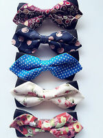Baby Boys Kids Children Party School Cotton Fashion bow tie Necktie bowtie Pin