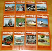 12x Eisenbahn Modellbahn 1990 Magazin komplett Hefte 1-12 Sammlung Modellbau Lok