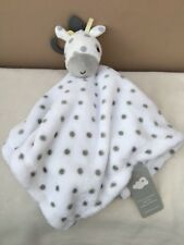NEW Primark Early Days White Grey Giraffe Taggy Comforter Blanket Soft Baby Toy