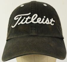 Titleist Embroidered Black Baseball Hat Cap with Cloth Strap Adjust