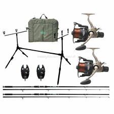 Kit Pesca Carpfishing Completo 2 Canne 2 Mulinelli e Accessori FS