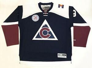 Reebok Colorado Avalanche 20th DUCHENE #9 NHL Hockey Jersey Navy Blue XL Sewn