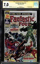 FANTASTIC FOUR ANNUAL #5 CGC 7.0 WHITE PAGES SS STAN LEE CGC #1508461024
