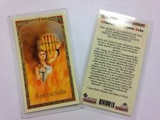 HOLY PRAYER CARDS FOR THE LONELY SOUL ANIMA SOLA SET OF 2 IN SPANISH FREE SHIP!