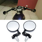 "Black Foldable 7/8"" Habdle Bar Eed Side Mirrors For Bobber Clubman Cafe Racer"