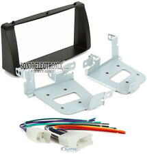 Double 2 Din Car Stereo Radio Install Dash Kit Harness for Toyota Corolla
