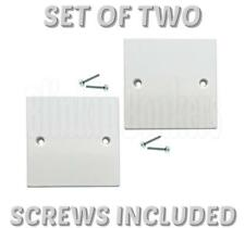 2 X WHITE WALL ELECTRIC LIGHT PLUG SOCKET BLANKING PLATE 1 GANG SWITCH COVER 31B