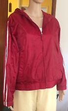 Jennifer Moore Rain / Windbreaker Jacket Women's Sz S Cranberry Nylon Hooded NWT