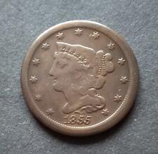 1855 Braided Hair Half Cent USA