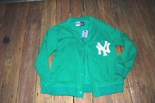 New York Yankees Adult XLT green button up sweater new with tags by Majestic