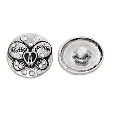 Chunk Snap Jewelry Button Round Antique Silver Fit Chunk Bracelet Clear Rhinesto