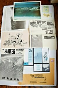 1960s John Severson Surf Magazine Press Packet w/ Sticker, Photos, Ads + More