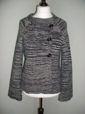 WALLIS Size Medium Striped Wool / Angora Mix cardigan