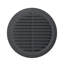 "Graphite Round Air Vent Grille 4"" 5"" 6"" Duct Pipe Cover 100mm 125mm 150mm T36GR"