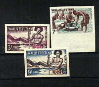 FRANCE WALLIS and FUTUNA Yv 157/157B Complete Set Imperforate MNH