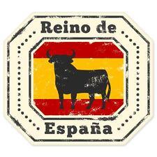 "Reino Espana Spain Bull travel car bumper window suitcase sticker 4"" x 4"""