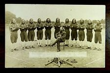 rare ISRAELITE HOUSE OF DAVID BARNSTORMING BASEBALL TEAM ca.1920 Photo Postcard