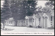 SHARTLESVILLE PA US U S Hotel Cabins & Restaurant Route 22 Vintage Postcard Old