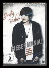 DVD BIEBER MANIA - DAS LEBEN VON JUSTIN BIEBER - DOKUMENTATION *** NEU ***