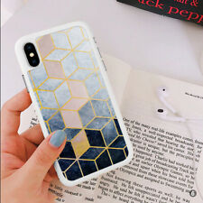 Marble Hexagon Phone Case Cover For iPhone Samsung Huawei OnePlus ETC 110-6