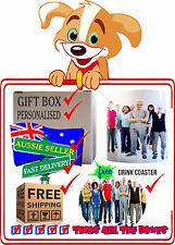 "Personalised Photo Ceramic Mugs + ""FREE COASTER""  - any Image/Message-Gift-Boxed"