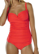 "NEW + TAG BILLABONG LADIES (14) ""SURFSIDE"" TANKINI SET SWIMWEAR NEON FIESTA RED"