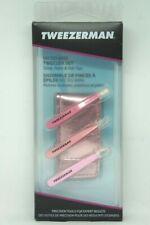 Tweezerman Micro Mini Tweezer Set Pink - Slant, Point & Flat Tips