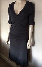 TED Baker,Grey,Stretch, Cross Over 100% Lyocell Dress,size 2 , UK 10