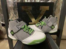 2008 Nike Zoom Lebron V 5 Dunkman Grey Green Black White Sz 14