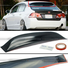 Fit 06-11 Honda Civic 4DR Sedan ABS Rear Window Roof Vent Visor Spoiler Wing