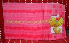 """Lot 37 Gift BAG RED Heart PINK BAGS Party 10.5"""" x 6"""" Bride BABY Bear Shower NEW"""