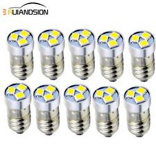 10pcs 3V LED 6000K 120lm For Flashlight Torch Lamp Light Bulb 3030Chip 3SMD E10