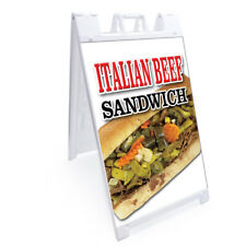 "A-frame Italian Beef Sandwich Sign Double Sided Graphics | 24"" X 36"""