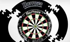 Genuine Harrows Dart Board Surround  Double Sided Velvet Finish 4 Piece