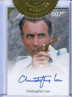 James Bond Archives Final Edition Christopher Lee Incentive Autograph Card