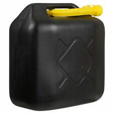 Tanica Da 20 Litri Con Tubo Flessibile Per Acqua Benzina Diesel Carburante Nero