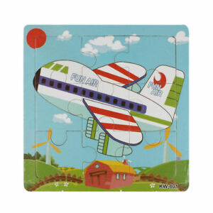 Wooden Jigsaw Toys Children Educational Learning Colour Shape Non-Toxic UK Stock