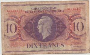 France-Guadeloupe Billet de 10 Francs 1944-02-02