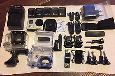 GoPro HERO3  White Edition CHDHE-301  5x Battery 2x Case Lot Of Extras !