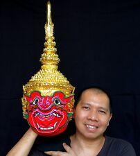 Suriyaph Mask Khon Thai Handmade Ramayana Headdress Collectibles  Free shipping