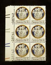 US Plate Blocks Stamps #1768 ~ 1978 CHRISTMAS 15c Plate Block of 6 MNH