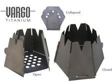 Vargo Titanium Hexagon Wood Cook Stove Backpacking Camping Pit Collapsible Gear