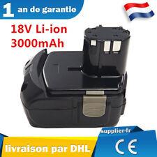 18v Batterie pour HITACHI 326240,326241,327730,327731,BCL 1815,EBM 1830 3000mAh