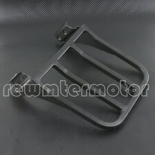 Backrest Sissy Bar Luggage Rack For Harley Sportster XL Dyna Softail Black