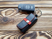 Genuine Leather Key Hard Case Black Key Holder Organizer Key Cover